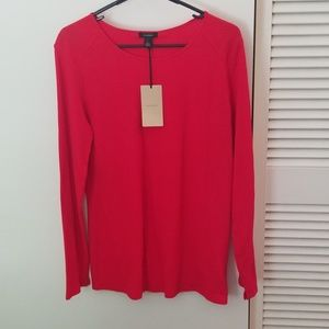 Red Halogen tunic top NWT